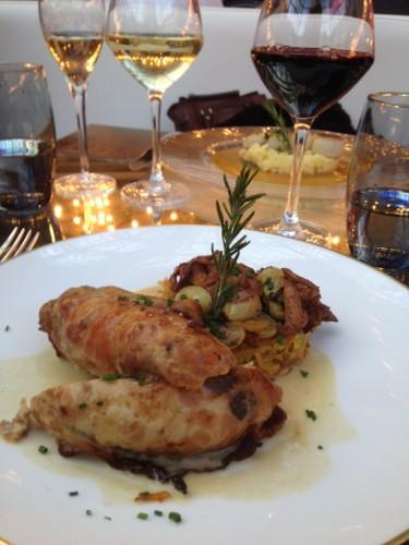 Suprême de pintade farci au veau et raisin, pomme darphin, girolles, crème de châtaigne_lamodecnous.com-la-mode-c-nous_livelamodecnous.com_live-la-mode-c-nous_lmcn_livelamodecnous